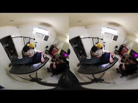 tattooing Hugh Cameron Tsmania Sleeve  in stereoscopic 3d 180 VR  videos