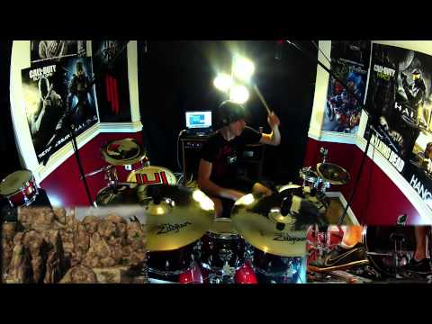 Imma Try It Out - Skrillex - Drum Cover - Black Ops 2 - Crossbow / Combat Axe Montage