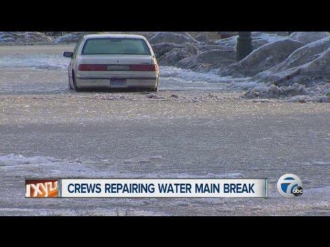 Water main break in Detroit