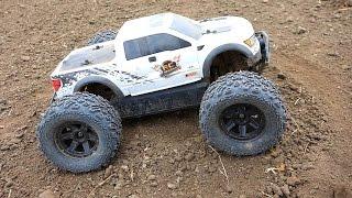 RC ADVENTURES - FORD RAPTOR hpi SAVAGE XS FLUX MiNi MONSTER Truck w/ BiG JOE TiRES