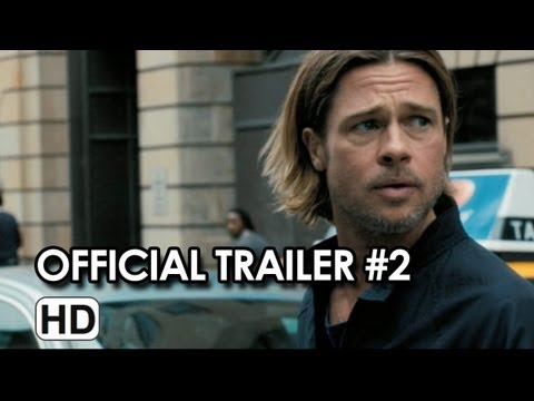 World War Z Official Trailer #2 (HD) Brad Pitt