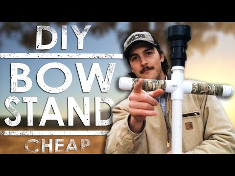PVC Bow Stand : DIY Homemade   The Sticks Outfitter   EP. 15