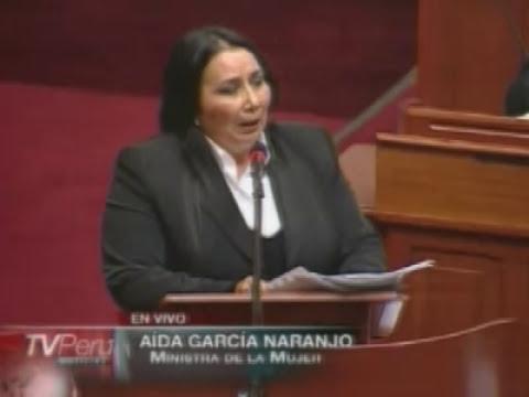 Ministra de la Mujer se presenta ante pleno por intoxicación de escolares en Cajamarca