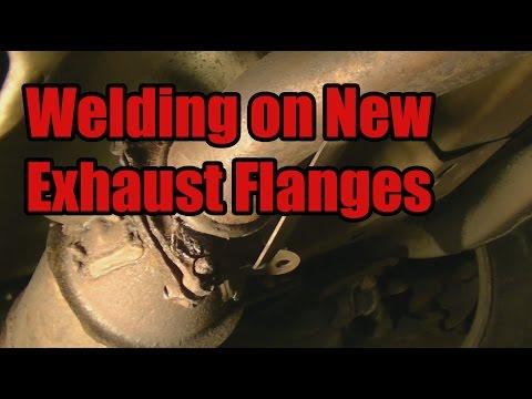 Exhaust Repair - Welding on New Flanges (Part 1)