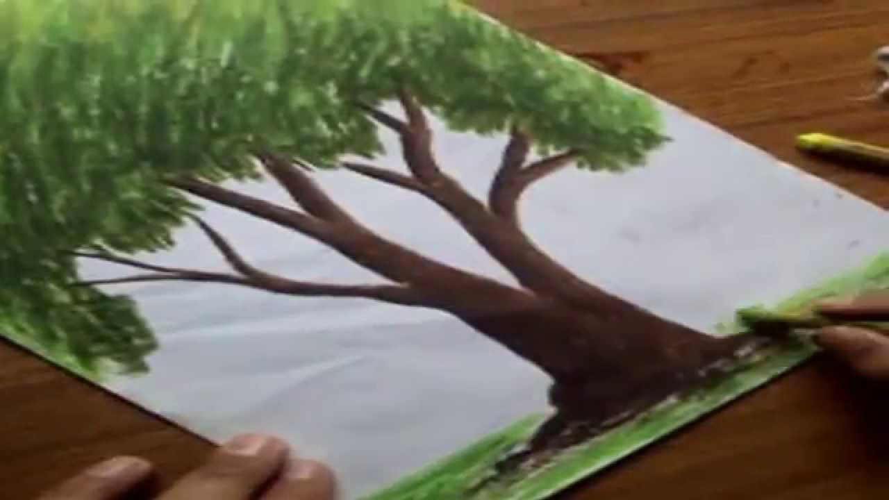 Oil Colors Drawing How to Draw Trees With Oil