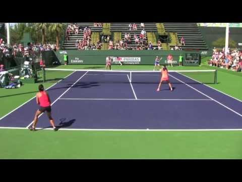 [1]Hsieh/Shuai vs. Kleybanova/Pavlyuchenkova - 2014 BNP Paribas Open