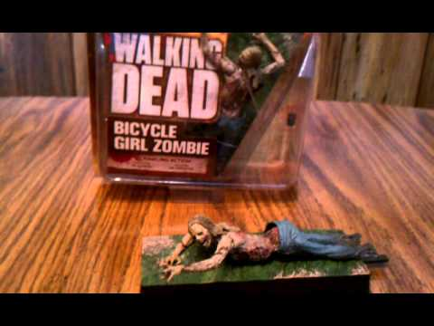 The walking dead tv series 2/ bicycle girl zombie action figure