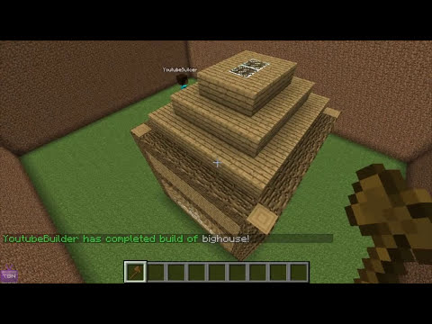 Minecraft Bukkit Plugin - Citizens 2 + Builder - NPC Auto build Schematics