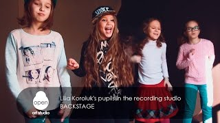 Lilia Koroluk's pupils in the recording studio - Backstage - Open Art Studio