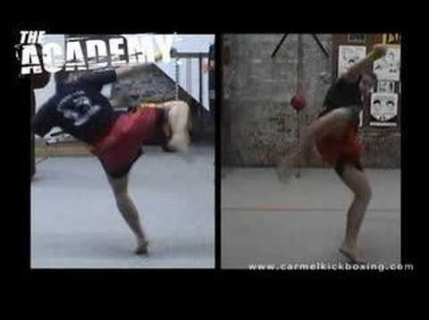 Muay Thai training - kicks