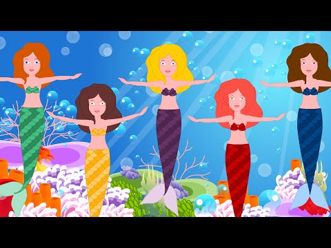 Five Little Mermaids  | Original Rhymes By Kids Channel