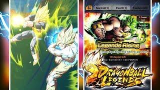 HYPE VEGETA SUMMON ANIMATION!? Dragon Ball Legends SPARKING BROLY SUMMONS! | DB Legends