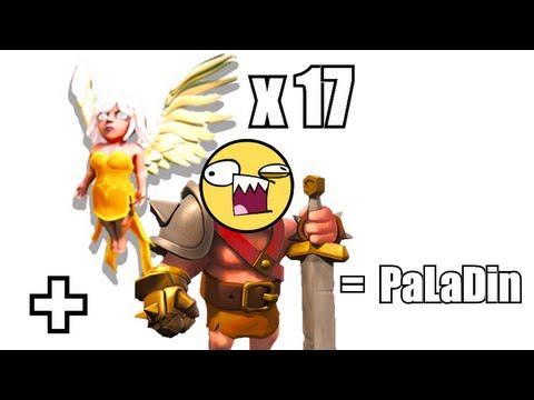 Clash of clans - 17 MAX healers and lvl 31 king GAMEPLAY!!!