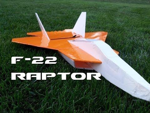 Acrobatic F-22 RC Airplane - Scratch Build