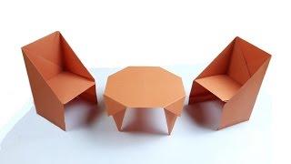 Origami masa ve sandalye yapımı