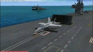 FSX:SE Aircraft Carrier...What the ****