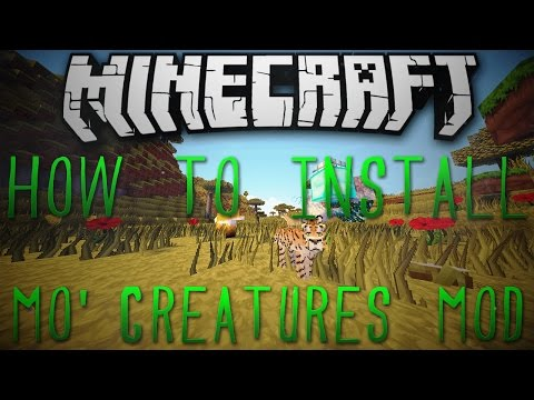 Minecraft 1.11.2: How To Install Mo' Creatures Mod!