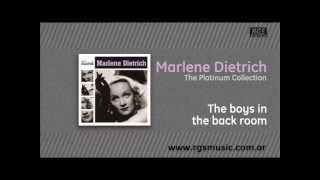 Watch Marlene Dietrich The Boys In The Back Room video