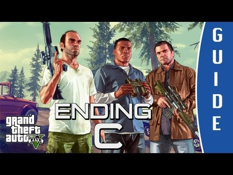 GTA V (Grand Theft Auto 5) ENDING C: The Third Way - Death Wish   Final Mission [HD]