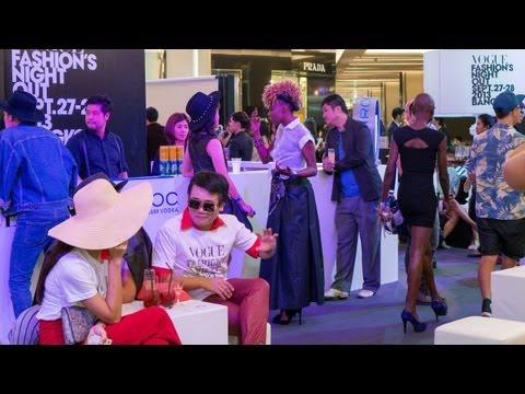 Bangkok Party Vogue Fashion Night Out 2013 Siam Paragon