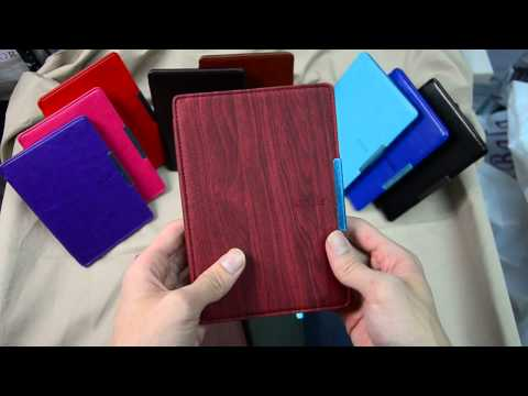 kindle paperwhite wooden magnetic leather case cover