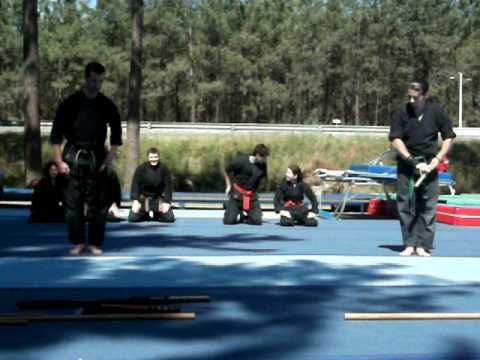 Amazing ninjutsu demonstration in Portugal Image 1