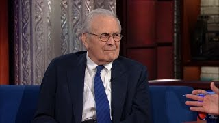 Stephen Gets A Straight Answer Out Of Donald Rumsfeld