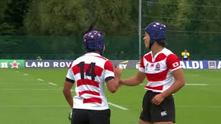 Highlights: Japan beat Hong Kong at the Women39s Rugby World Cup