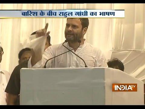 Rahul Gandhi Braves Heavy Rains to Address Rally in Tiruchirappalli – India TV Photo Image Pic