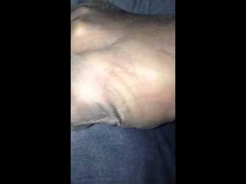 Nylon feet sheer rht caresses