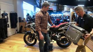 1st 2019 BMW R1250GSA in Ice Grey Delivery by Nate Jennings @ Frontline