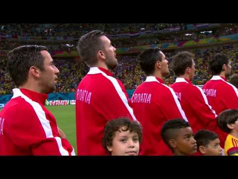 Cameroon vs Croatia FIFA World Cup 2014 National Anthems