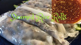 Vietnamese Food| How I Make Steamed Rice Rolls