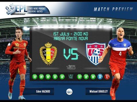 Mecz Belgia -  USA (Stany Zjednoczone) Wynik 2-1.  Belgium -  USA 2-1 All Goals