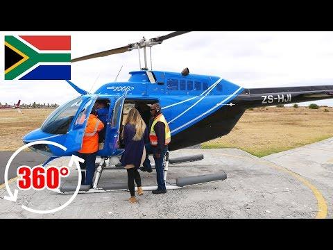 Unser erstes 360 Grad Video: Hubschrauber Rundflug Kapstadt - Südafrika | 360 Video Virtual Reality