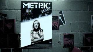 Watch Metric Poster Of A Girl video