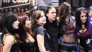 Vamp TV - LeeAnna Vamp & her Evil Cheerleaders - Coffin Case at The NAMM Show 2011