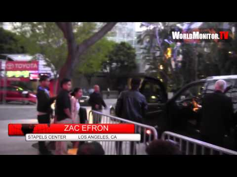Adam Sabbagh and Zac Efron arriving at LA Lakers vs Denver NBA game 7