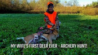 My Wife's First Deer Ever – Archery Hunt!