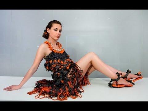Плетение из резинок платья для кукол видео