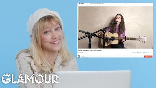 Download Lagu Grace VanderWaal Watches Fan Covers On YouTube | Glamour Gratis STAFABAND