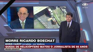 Boris Casoy: Boechat iluminava a redação quando chegava