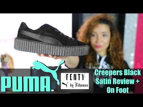 Rihanna x Puma Fenty Creepers Black Satin Review + On Foot