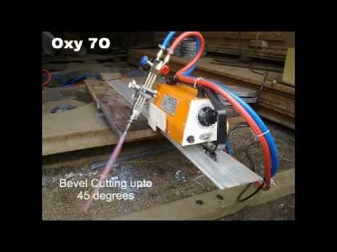 Oxy Fuel Straight Cutting Machine Avi Youtube