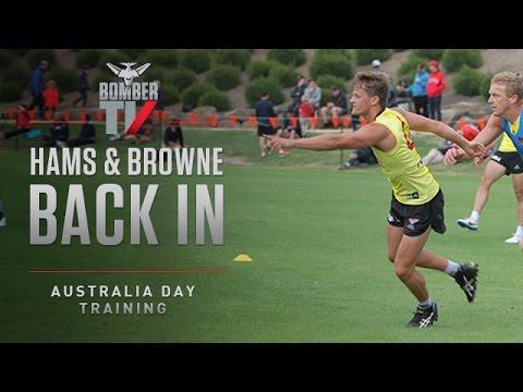BTV: Browne, Hams return to training - January 26, 2015