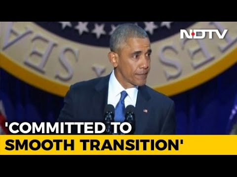 In Farewell Speech, President Barack Obama Says Committed to Peaceful Transfer of Power