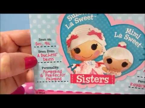 Mini Lalaloopsy Sisters Suzette and Mimi La Sweet Collection Lalaloopsy Week!