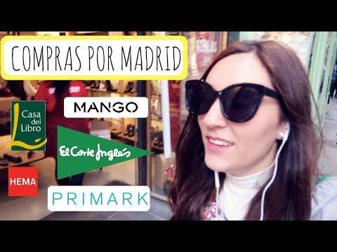 Vlog Nº 2: De compras por Madrid + Supermercado - Mango, Primark, Corte Inglés, Hema, Casa del Libro