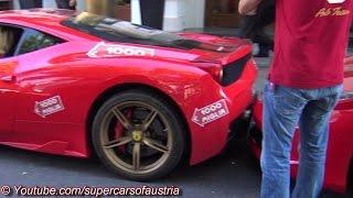 Woman crashes her Ferrari 458 Speciale into a Ferrari 458 Spider