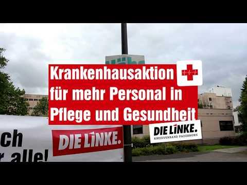 Krankenhausaktion für mehr Personal in Gesundheit und Pflege